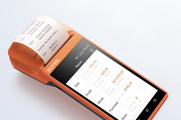 V1s プリンタ搭載 Androidスマートターミナル SUNMI サンミ